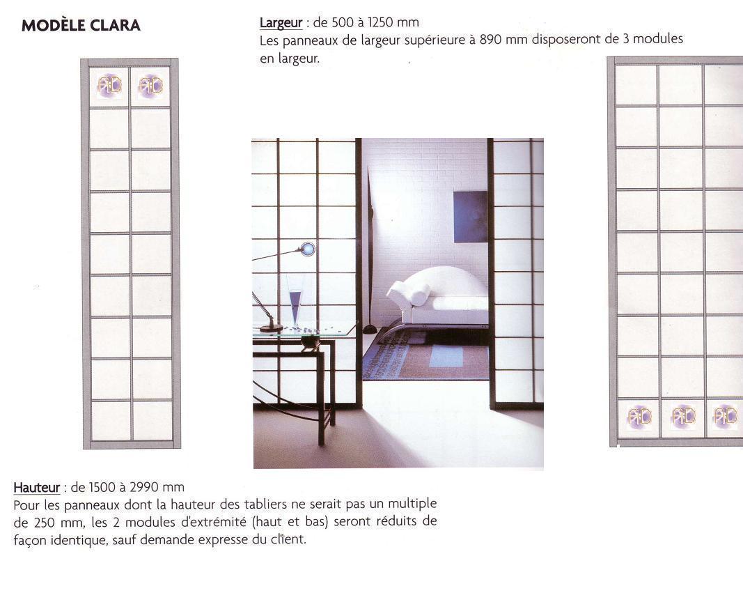 Porte coulissante japonaise en petits carreaux rokugatsu - Fabriquer cloison japonaise ...